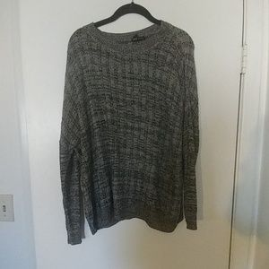 Black and Gray oversized sweater MNG by Mango